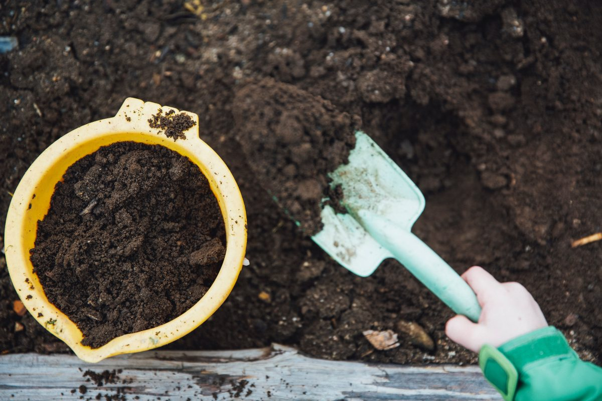 gardening bucket and shovel